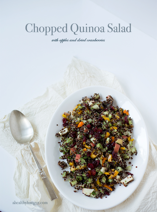 Chopped Quinoa Salad~ A Healthy Hunger