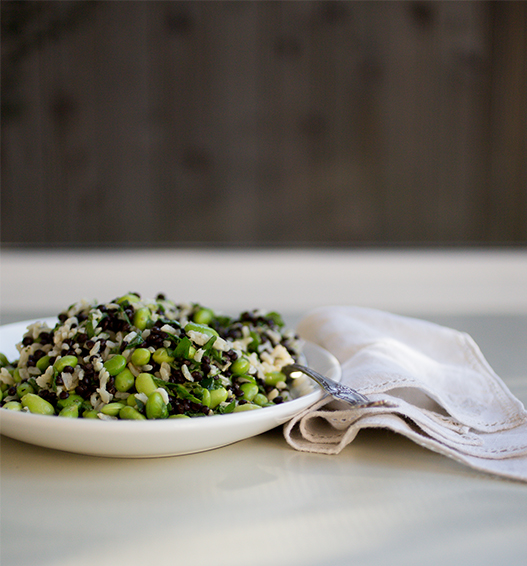 Rosemary Rice and Beluga Lentil Salad ~A Healthy Hunger